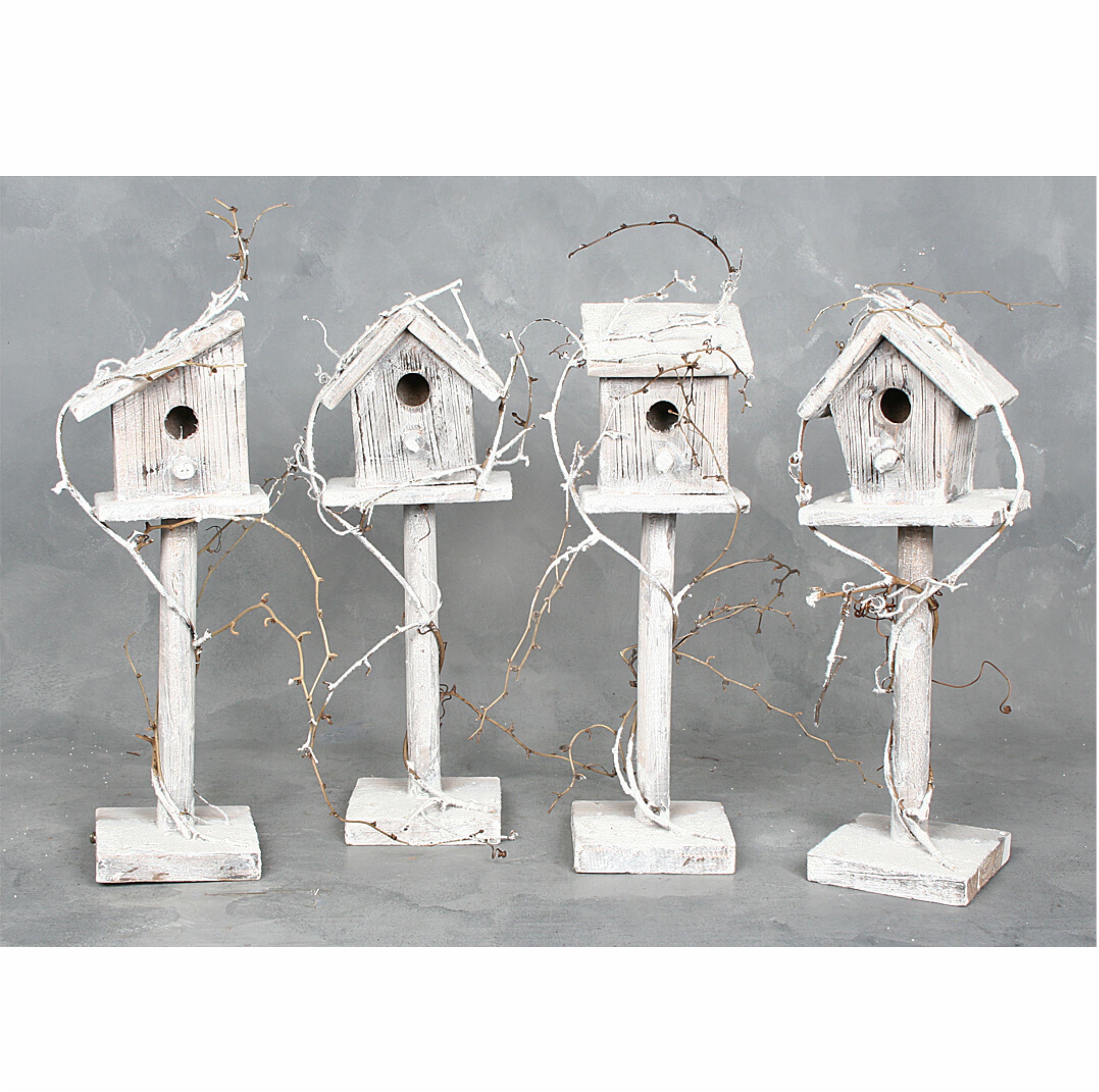 davide24 vogelhaus wei beschneit 4 st ck. Black Bedroom Furniture Sets. Home Design Ideas