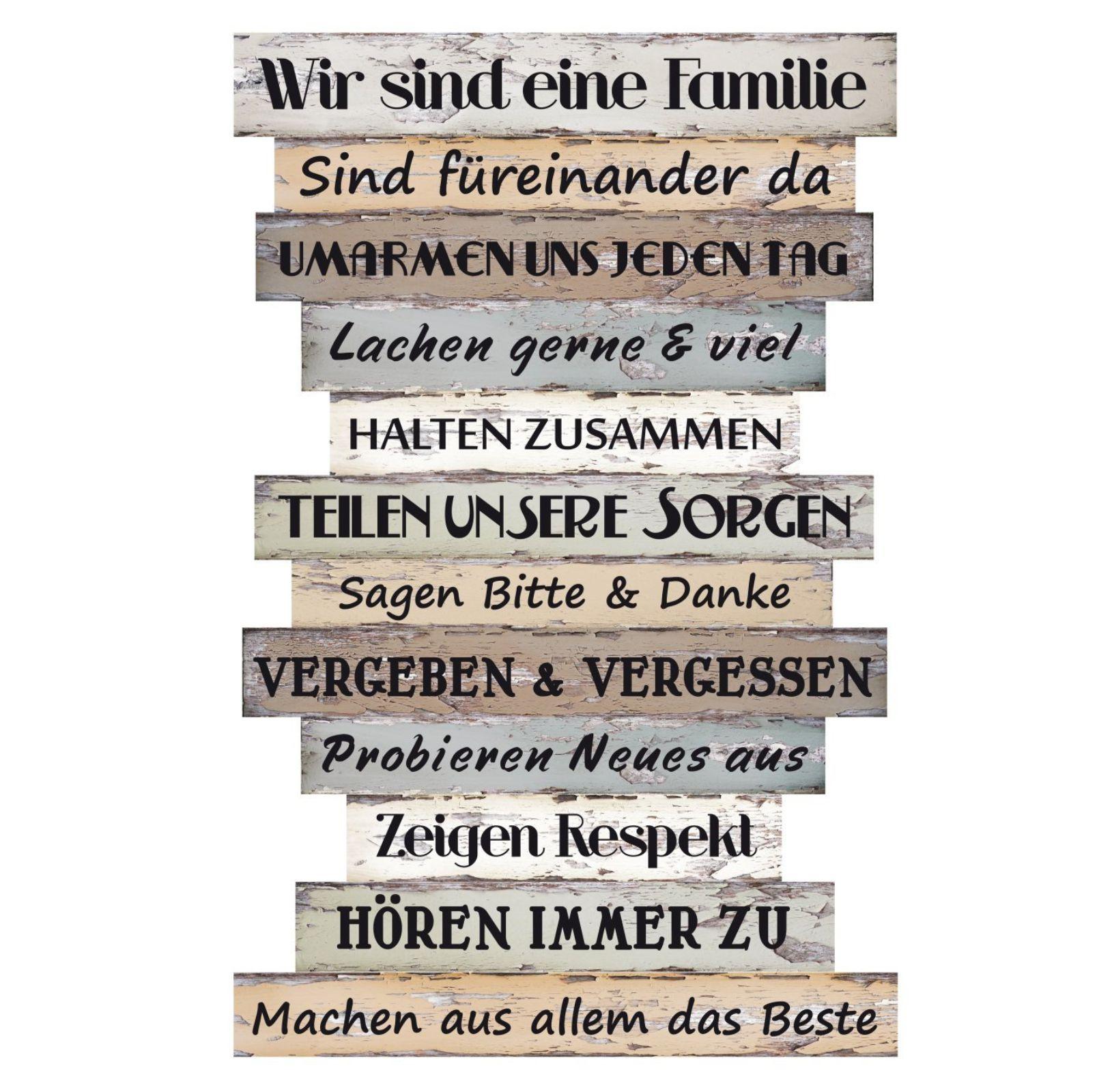 DAVIDE24 | Holztafel, Wandbild, Spruch