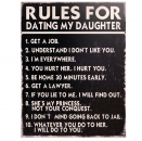 Metallschild - Rules for Dating my Daughter 33x25cm